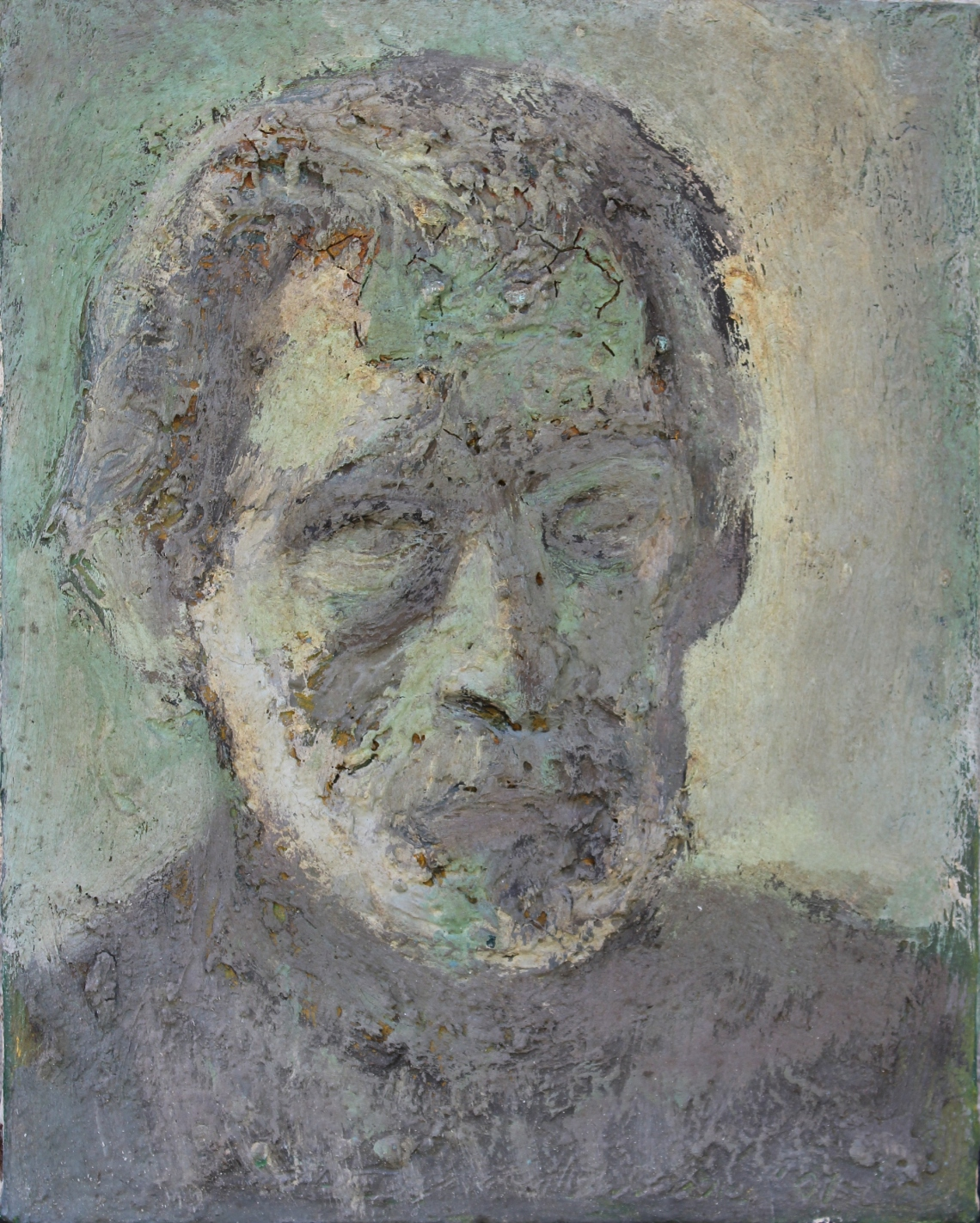 self-portrait impasto