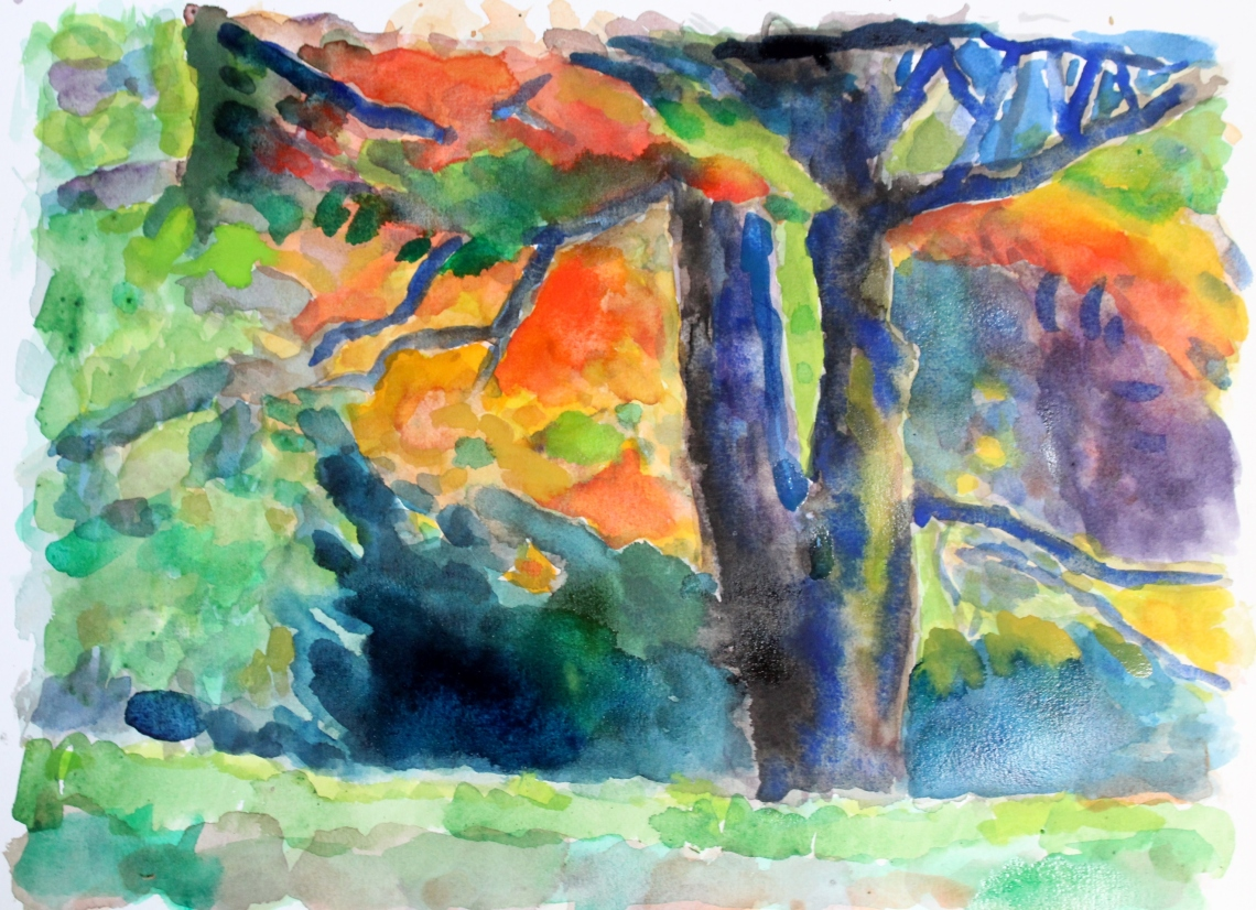 Autumn colours watercolour