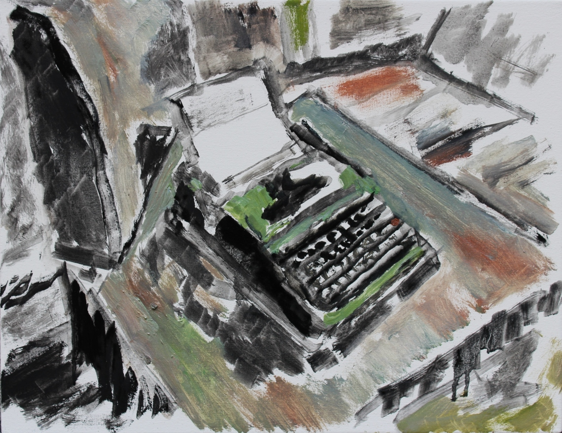 still life with typewriter study