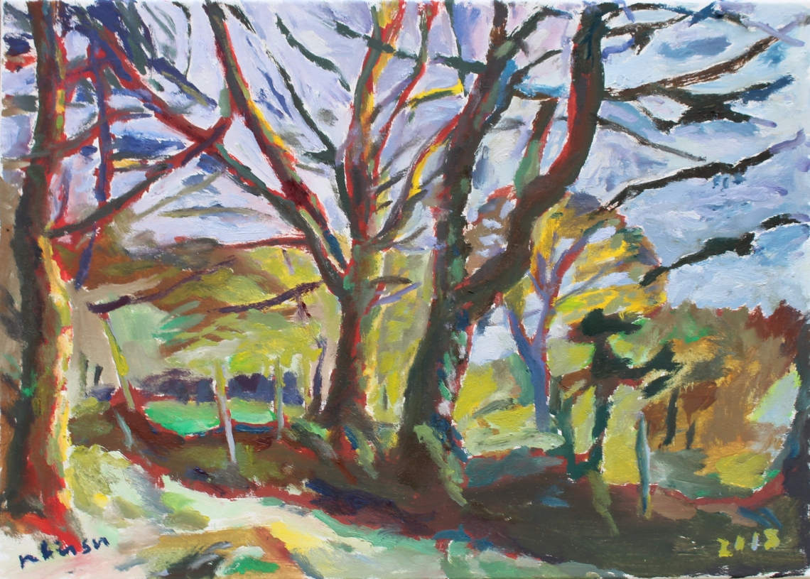 expressionistic-ish trees