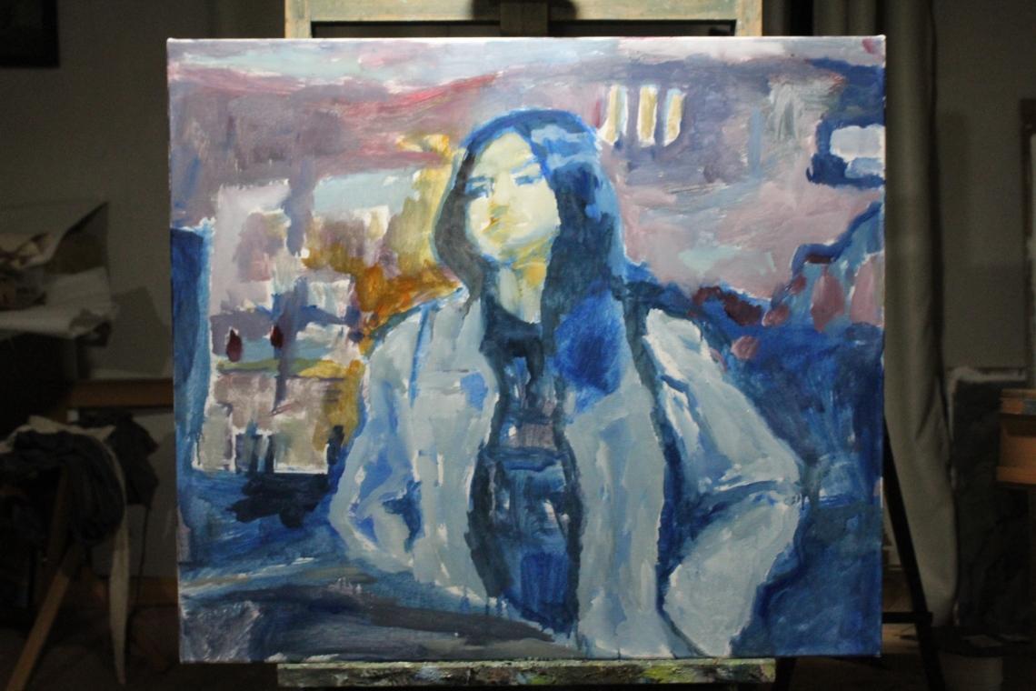 dublin girl student waiting #2