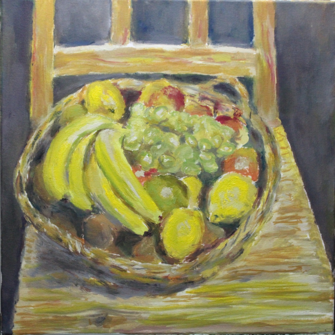 fruit on chair