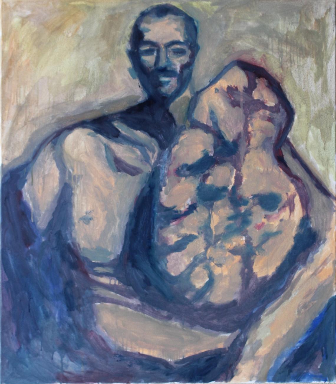 man with tumour