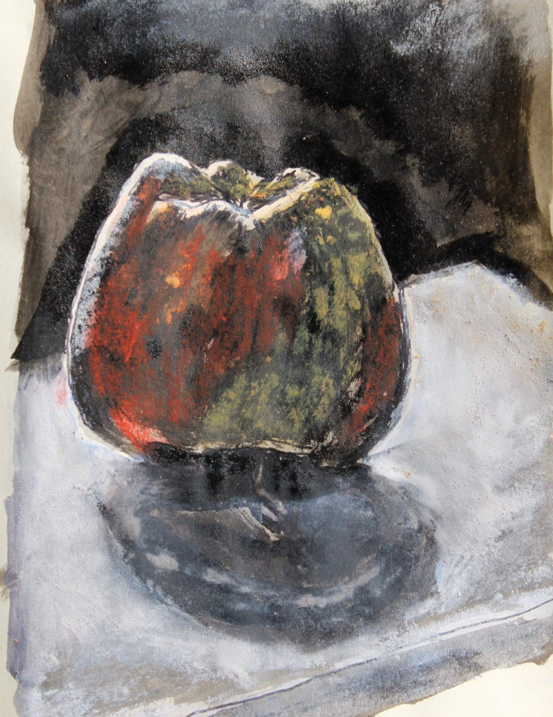 apple mixed media