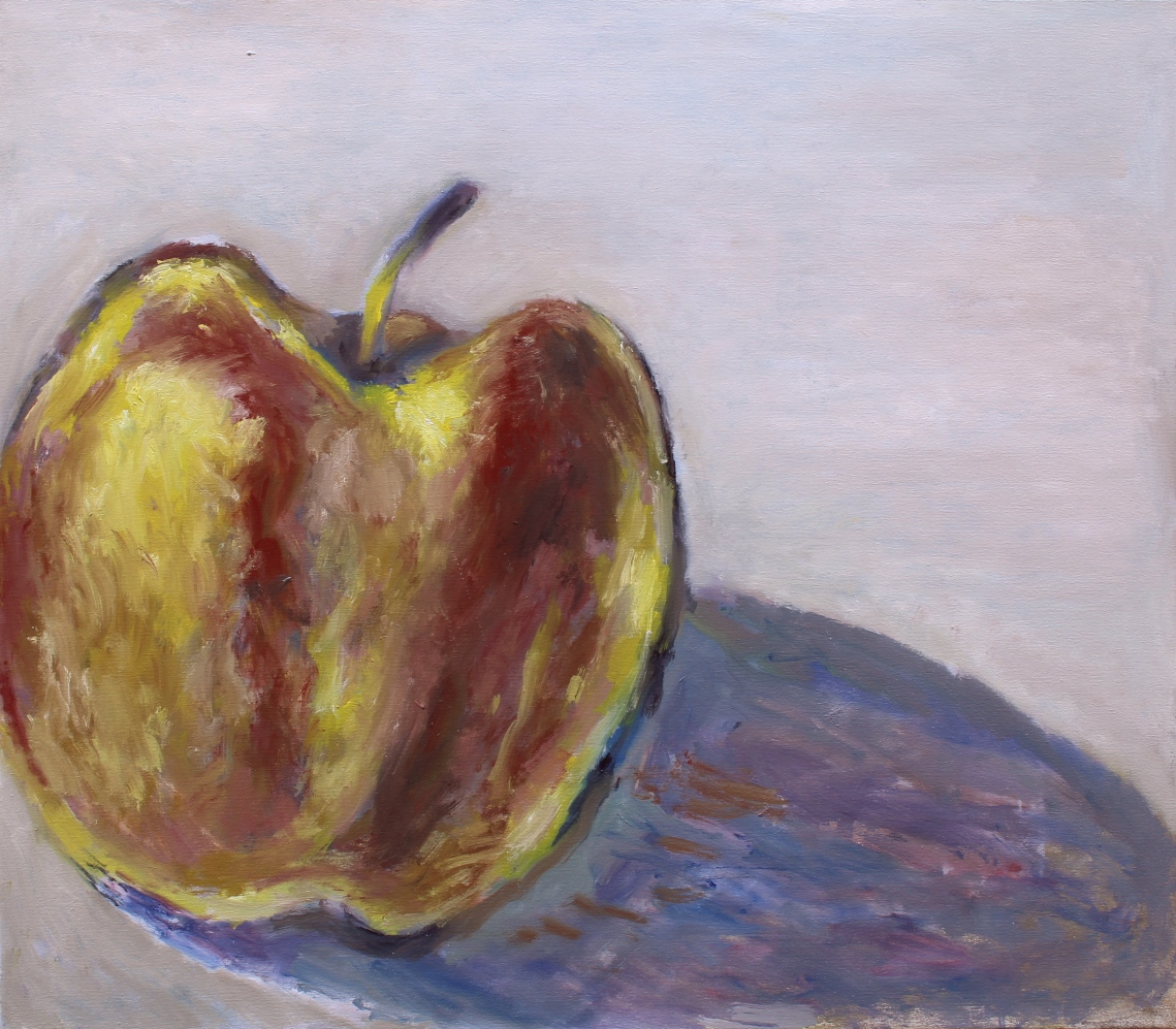 apple oil on canvas unfinished