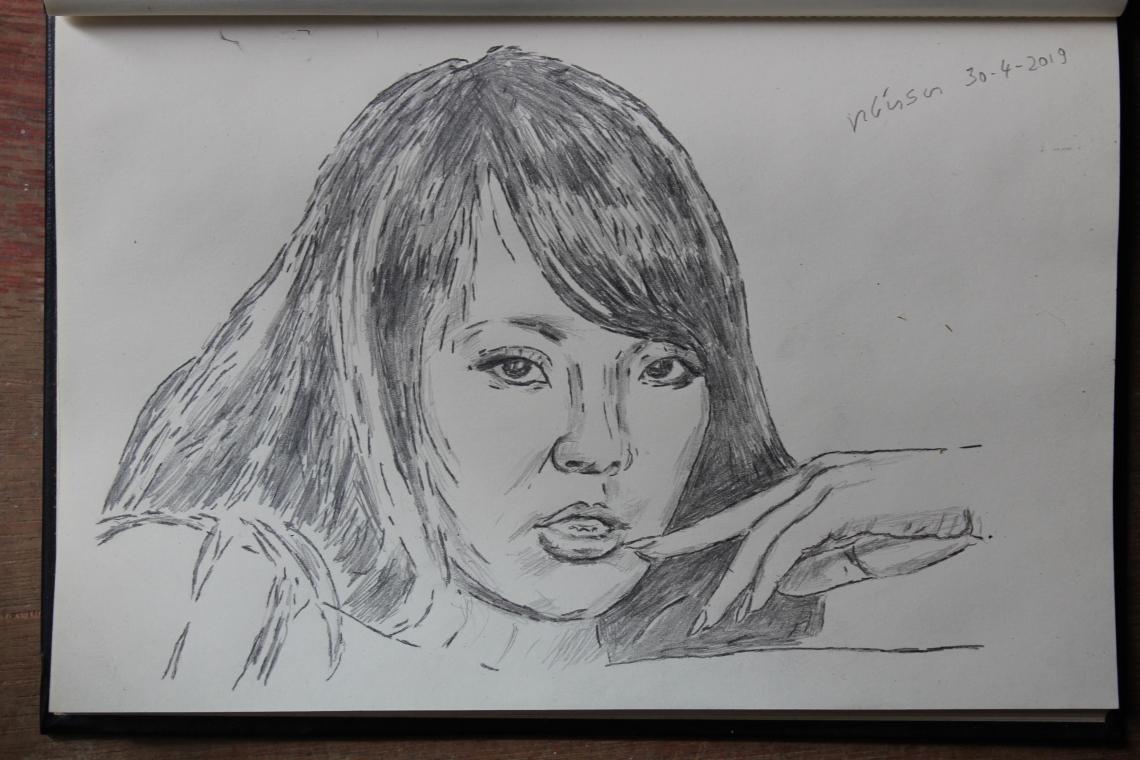Hitomi Tikky pencil drawing