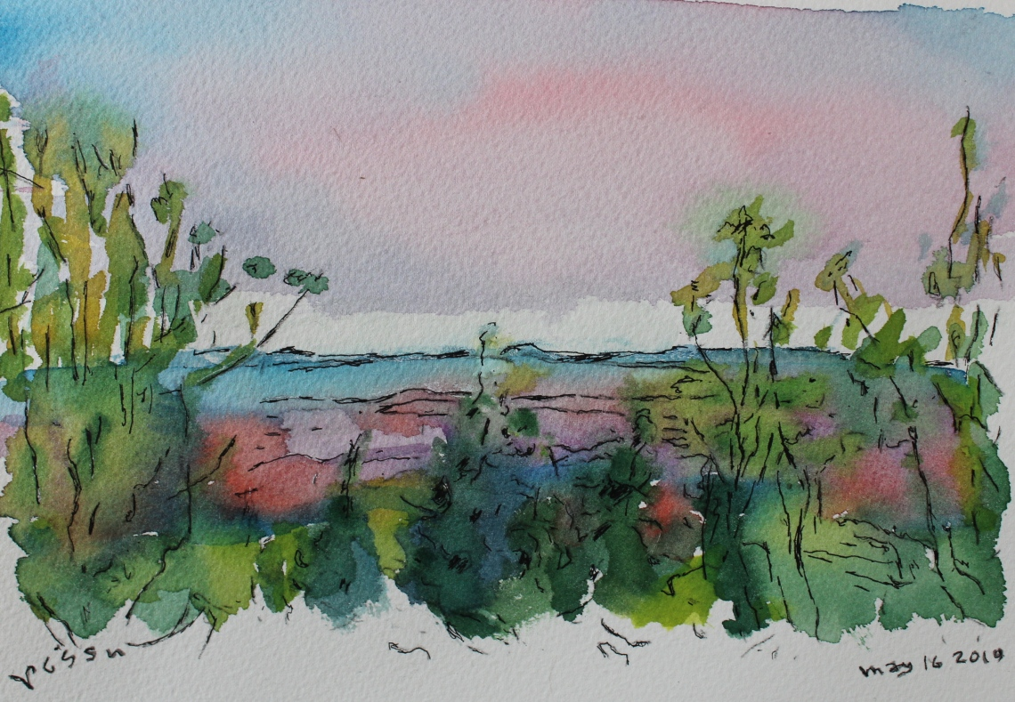 evening view watercolour #2