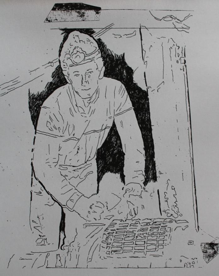 Gay Sheerin working mine machinery