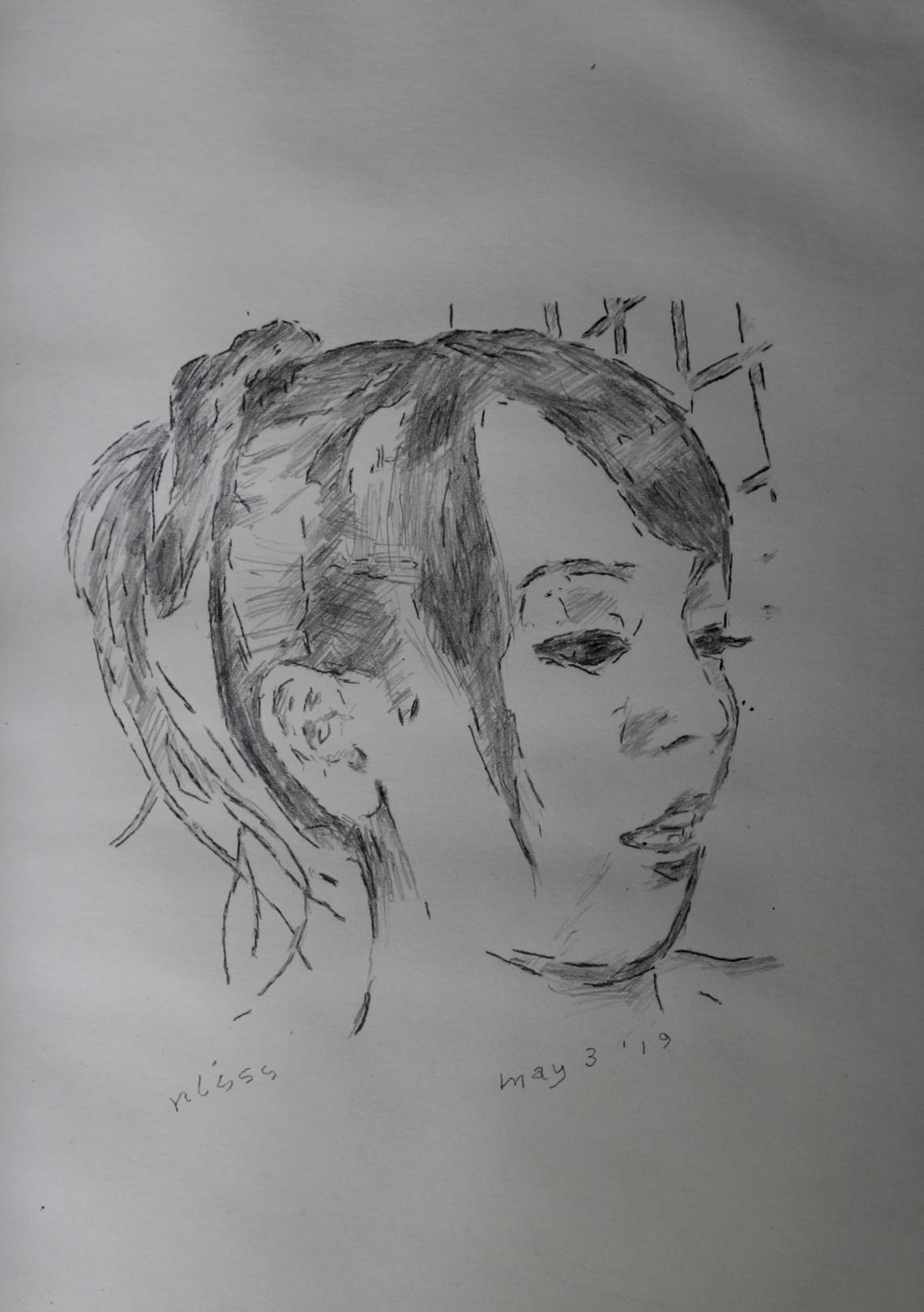 tikky sketch of hi