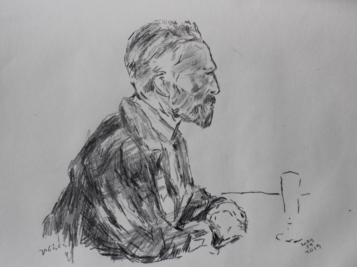 van gogh pencil portrait