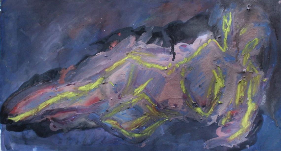 reclining nude nebula