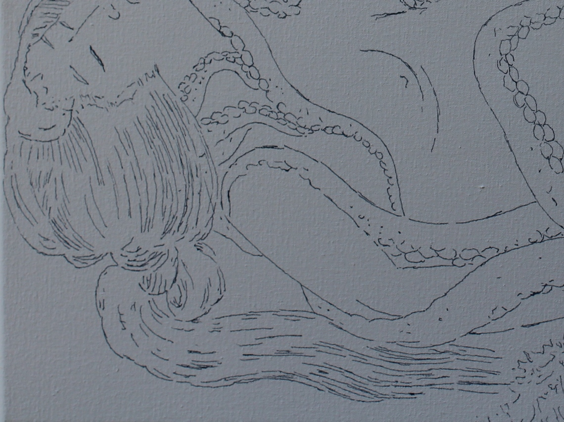 detail from a drawing after hokusai