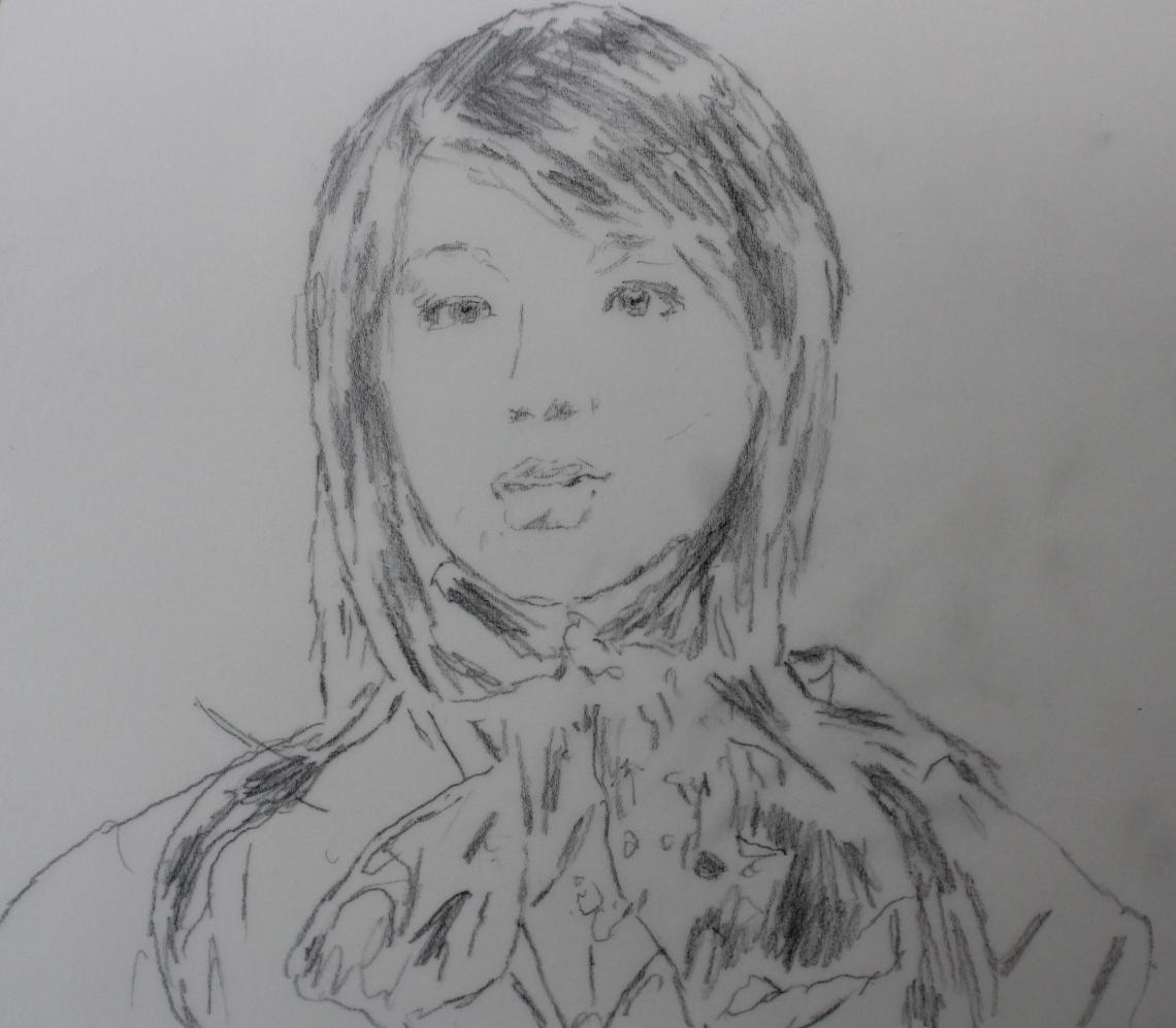 sketch Aiko fembot