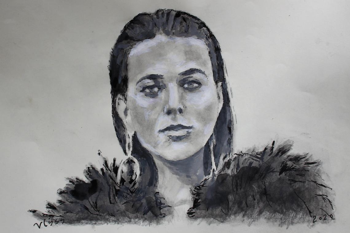 svetlana drawing after a photo
