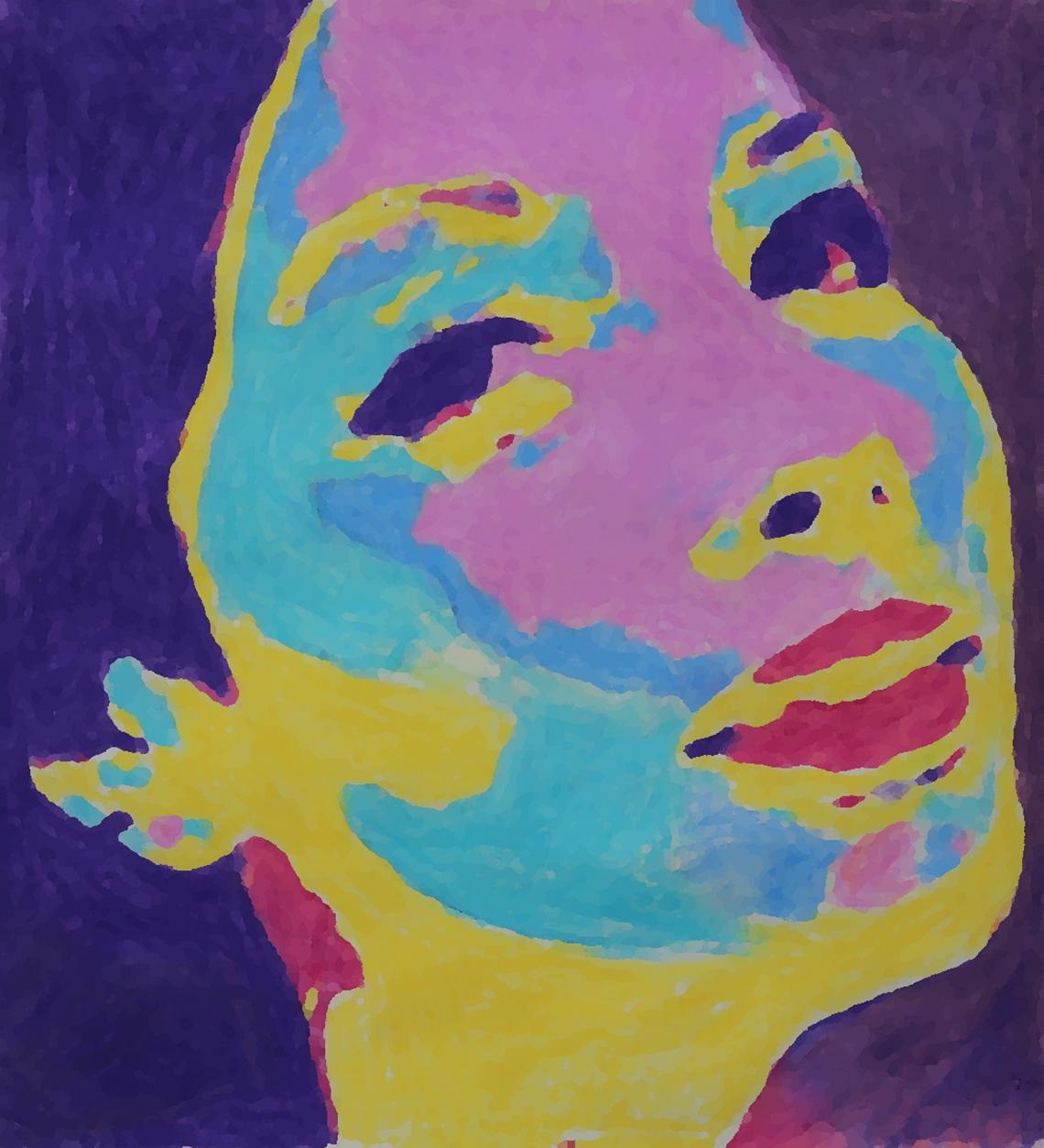 multicoloured sarah pixellated